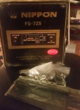 1980s NIPPON FS-725 Car Stereo IN-DASH Cassette player AM FM Radio! NIP!