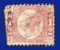 1870 SG49 ½d Rose Plate 5 BW Useful Spacefiller CV £28 aolb