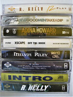 Lot Of 8 Great Music Cassette Tapes R Kelly XSCAPE INTRO Melvin Riley + Case