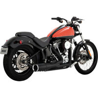 Vance & Hines Black Hi-Output 2-Into-1 Short Exhaust 1986-2017 Harley Softail