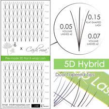 5d Hybrid Premade Fan Lash Pre-fan Semi Permanent Eyelash Extension Dual Tapered 0.07 C 9mm