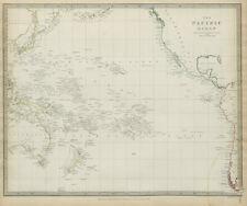 PACIFIC OCEAN Australia Polynesia Oceania Sandwich Islands SDUK 1844 old map