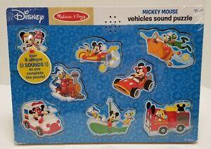 New Sealed Melissa & Doug Disney Mickey Mouse Shapes Sound Puzzle