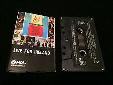 LIVE FOR IRELAND CASSETTE TAPE VARIOUS U2 CLANNAD THE POGUES VAN MORRISON