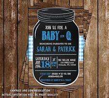 Baby-Q - BBQ - Baby Shower - Invitations - 15 Printed W/envelopes