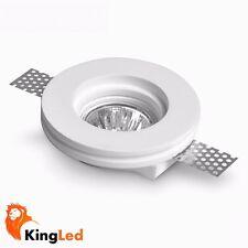 KingLed® Faretto Incasso Gesso Rotondo Piatto D. 100mm+ Portafaretto GU10 0627