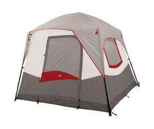 ALPS Mountaineering 495301 Camp Creek 4 Person Tent, Gray & Red