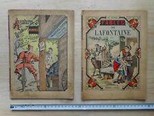 2 livres ENFANT  IMAGERIE D'ÉPINAL  FABLES + IL SIGNOR PEDALE
