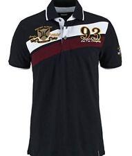 bruno banani Polo de hombre talla S negro alta calidad camiseta verano moda