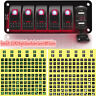 6 Gang Car Boat Marine Rocker Switch Panel 2 USB Red LED Circuit Breaker Voltage
