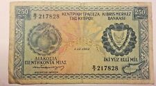 Billets, 250 Mils Type 1964-66 #51782 Cyprus Chypre