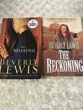 2- Beverly Lewis Books Lot Amish The Missing And The Reckoning