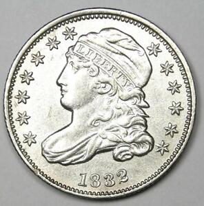 1832 Capped Bust Dime 10C - Choice AU Details - Rare Early Date Coin!