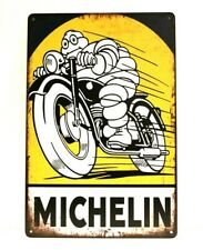 New ListingMichelin Tires Tin Metal Sign Art Vintage Style Man Cave Garage Automotive Car 1