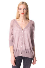 DIESEL Size S Women's M-PISTILLO-A Linen Blend Thin Knit Cardigan Made in Italy