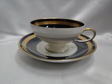 """Rosenthal Eminence Cobalt Blue, Gold Laurel: Footed Cup & Saucer Set (s), 2 1/8"""""""