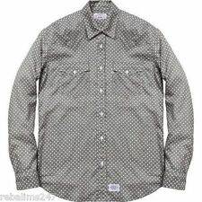 Supreme x LEVI'S CAJA con LOGOTIPO Gris Ligera Occidental Camisa Grande * Raro * Vendido