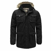 Boys Kids Brave Soul Quilted Hooded Winter Padded Parka School Coat Jacket Age