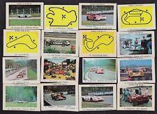 19 Diff 1971 Milou Bubble Gum Grand Prix Racing Cards Daytona 500/Monza/GP Spain