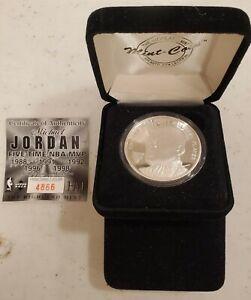 Michael Jordan Silver Coin Highland Mint 1Troy Oz .999 Fine Silver 4866 of 5000
