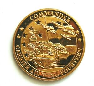 Commander Carrier Air Wing Fourteen Challenge Coin Fortune Favors The Brave
