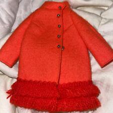 Vintage Barbie Doll Fiery Felt Coat #1789 mattel orange felt coat with fringe