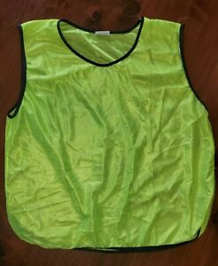 (12) Neon Yellow SCRIMMAGE VESTS PINNIES Soccer, Softball,  YOUTH, Large