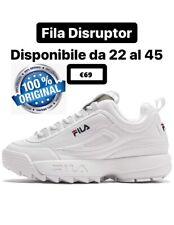 Fila Disruptor 2020 Bianche Classiche 100% Originali Uomo Donna Bambina