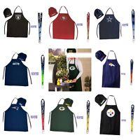 NFL Team Chef Hat & Apron + Bottle Opener Lanyard