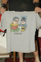 BATMAN AND ROBIN T SHIRT SILVER AGE ART DC MERCH 2XL #SELFIE DC COMICS