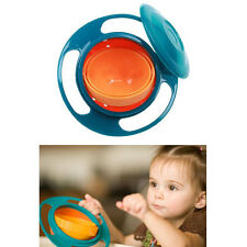Popular No Spillable Funny Gyro Bowl For Baby Kids Feeding Seving Food Plate
