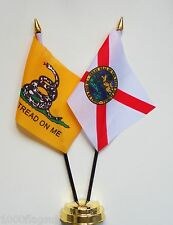 Gadsden & Florida Double Friendship Table Flag Set
