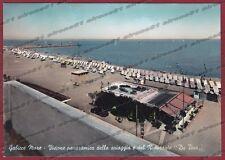 PESARO GABICCE MARE 07 SPIAGGIA - RISTORANTE Cartolina FOTOGRAFICA viagg. 1956