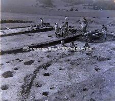 B/W 6x6 x3 Negative Muntham Court Excavations Findon West Sussex 1955