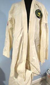 Vintage Karate School Uniform 2pc Vintage 1970s Mens Large w/PATCHES KIMS KARATE