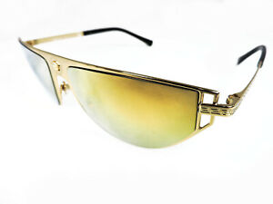 NEW VERSACE VE 2213 10027P VE2213 GOLD BROWN MIRRORED SUNGLASSES AUTHENTIC