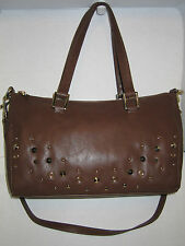 Juicy couture Studded Faux Leather Satchel Brown JHRUO093
