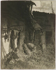 "Franz Xaver Wolf (b.1896), ""Old Shed"", Drawing, 1920s"
