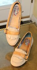 Sperry Women's Tassel Loafer Moc's Size 7M Tan Suede Leather Driving Flats