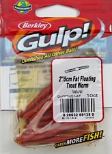 """BERKLEY GULP 2"""" FAT FLOATING TROUT WORM  NATURAL NEW IN PACK"""