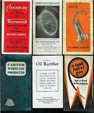 1920's Lot Rare Vintage Orig Automotive Dealer Brochures Rayfield Thermoid Adams