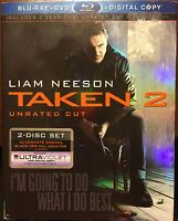 Liam Neeson Lot Taken 2/ The Grey (2 Blu-ray/DVD/Dig Copy Ultraviolet) Slipcover
