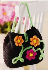LOVELY Garden Party Floral Purse/Bag/Crochet Pattern INSTRUCTIONS ONLY