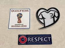 Set Of FIFA 2018 Russia World Cup EURO Qualifiers Patch Badge Parche Toppa Pièce