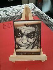 JOKER BATMAN HEATH LEDGER HAND DRAWN SKETCH TRADING CARD BY AARON LAIDLEY PSC