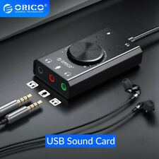 ORICO USB External Sound Card Microphone Earphone 2 in 1 W/ 3 Port Output Volume