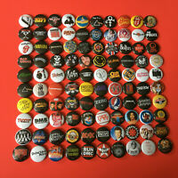 "100 1"" Buttons Mixed Classic Rock Punk Metal 80s 90s Badges Pins Resell Pop"