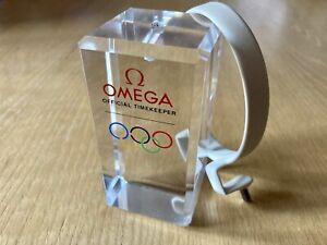Genuine OMEGA Olympics Seamaster Speedmaster Display Stand Block & Clip - RARE