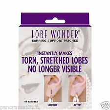 60X Invisible Earring Ear-Lobe Support For stretched lobes-LOBE WONDER.Made USA