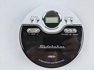 Studebaker SB3703 Personal Portable CD Player & FM Stereo Radio Anti-Skip